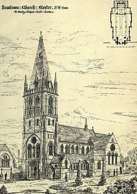 CATHEDRAL AT EXETER ENGLAND RELIGIOUS INSTITUTION 1878 HISTORY ARCHITECTURE
